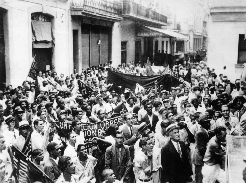 Cubans march against American interference on Guantánamo. September 15, 1933. Photograph courtesy Keystone-France/Getty.
