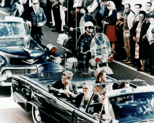 President Kennedy minutes before his assassination in Dallas, Texas, November 22, 1963. (Baylor University Collections)