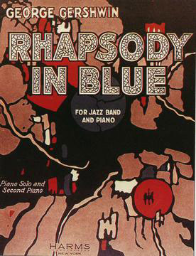 "Score for ""Rhapsody in Blue."""