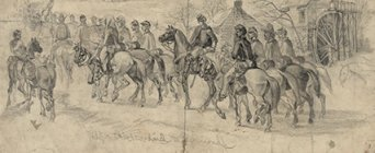 Library of Congress Artist Edwin Forbes sketched Kilpatrick's Raid to Richmond, circa Feb. 28 to Mar. 11, 1864.