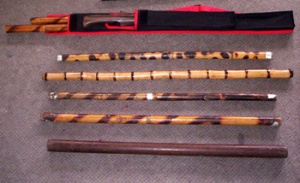 A collection of escrima fighting sticks. CONTRIBUTED PHOTO