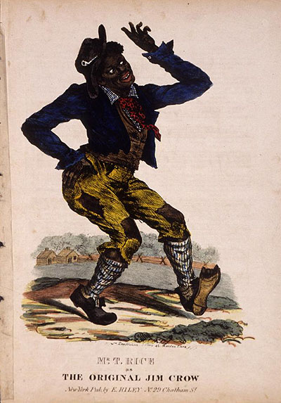 "Cover to an early edition of ""Jump Jim Crow"" sheet music (c 1832) -- Wikipedia -"
