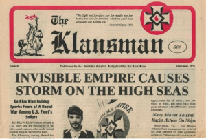 Klan newspaper of the 1970s.