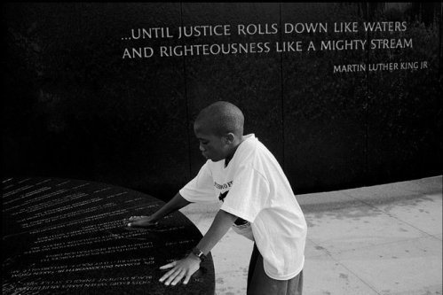 At the Civil Rights Memorial in Montgomery, Ala., in 1995. Credit Eli Reed/Magnum Photo