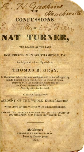 The Faculty Lounge: Was Nat Turner's Lawyer Gay?
